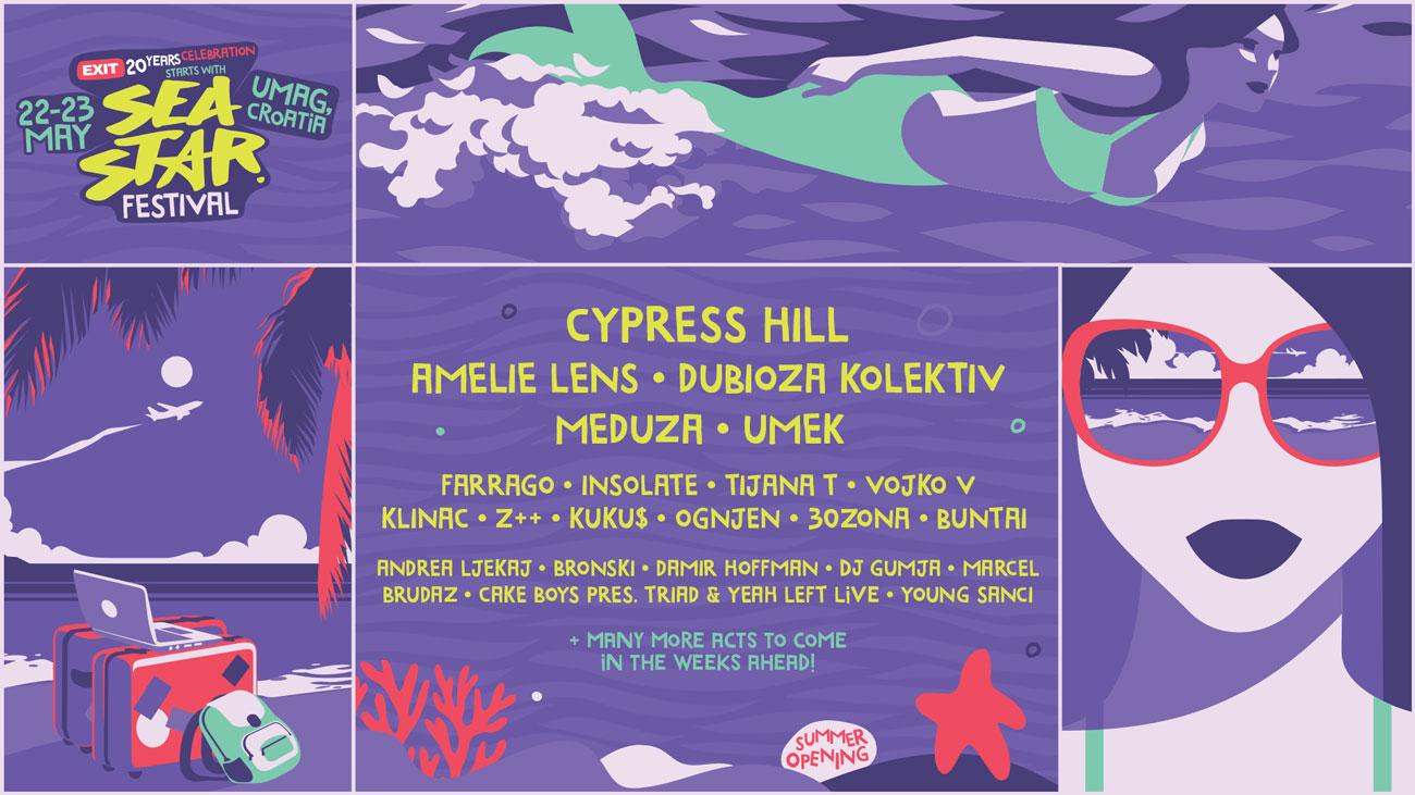 Cypress Hill ще участват на фестивала Sea Star, разположен на хърватския бряг!
