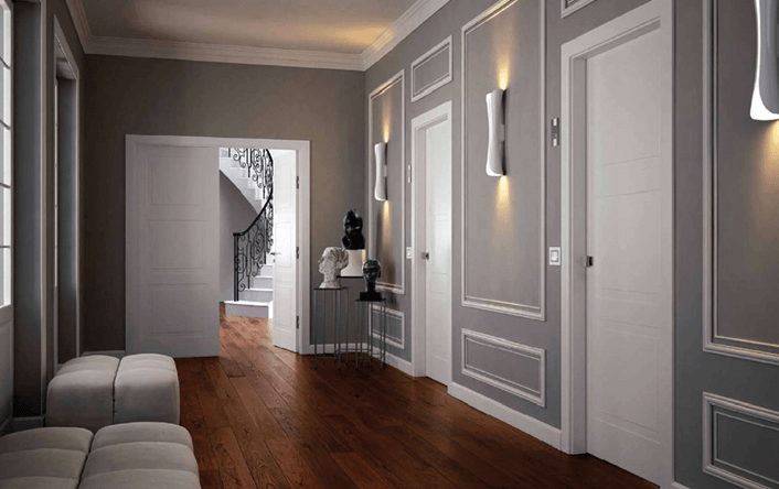 Боядисани интериорни врати - бюджетен вариант за декорация на интериора