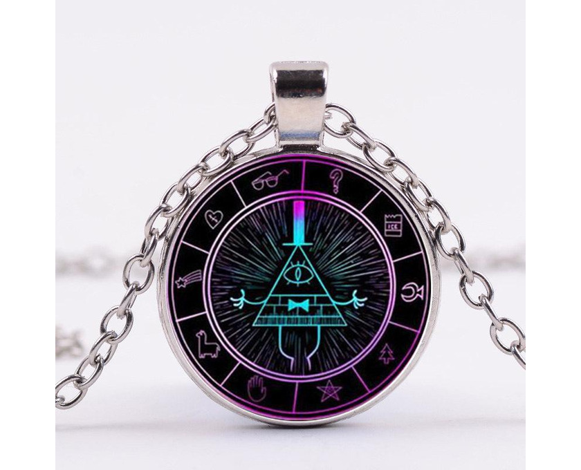 Gravity Falls Grotesque Town Bill Cipher Time Gemstone Necklace - 2/5