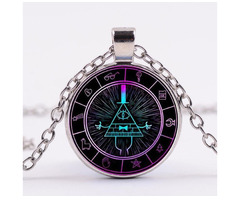 Gravity Falls Grotesque Town Bill Cipher Time Gemstone Necklace - Изображение 2/5