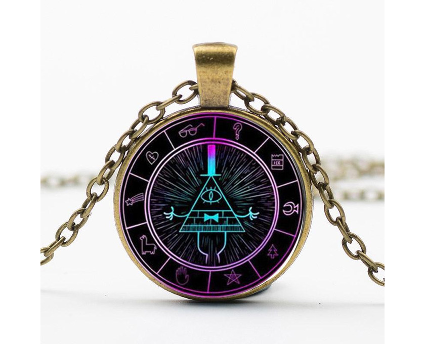Gravity Falls Grotesque Town Bill Cipher Time Gemstone Necklace - 3/5