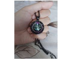 Gravity Falls Grotesque Town Bill Cipher Time Gemstone Necklace - Изображение 5/5